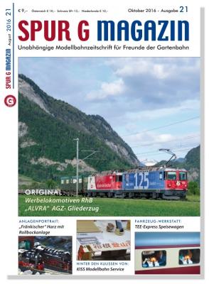Jahresabo für Spur G Magazin